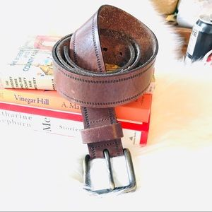 FOSSIL men's brown leather belt casual 38